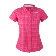 Bergans Langli Lady Shirt Short Sleeve hot pink checked