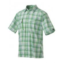 Haglöfs Saba Short Sleeve Shirt ginko green-rich red