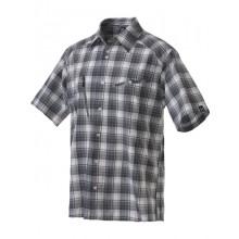 Haglöfs Saba Short Sleeve Shirt magnetite-bluebird