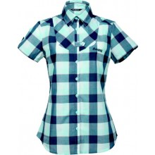 Bergans Dalen Lady Shirt Short Sleeve  cold mint check