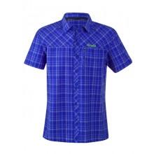 Bergans Langli Shirt Short Sleeve  cobalt blue checked