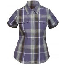 Bergans Leira Shirt SS dark violet-citrus checked