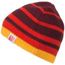 Bergans Cecilie Beanie - wine bright red/sunflower